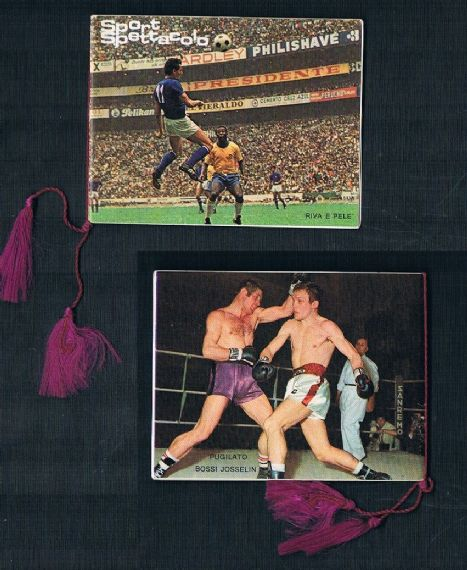 1970 Pele' mini booklet card Italy